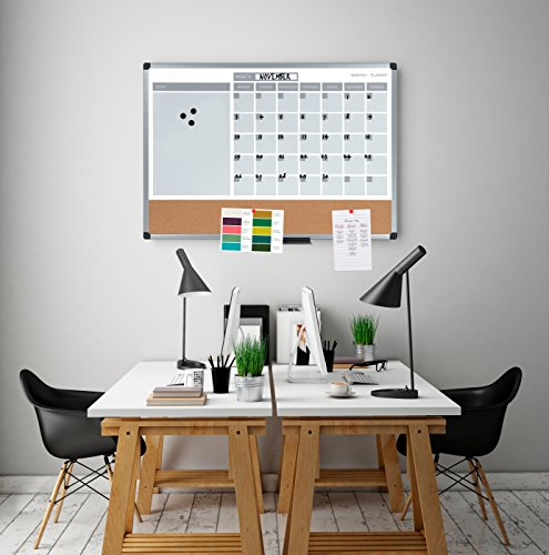 Mastervision 3 In 1 Calendar Dry Erase Planning Board 24