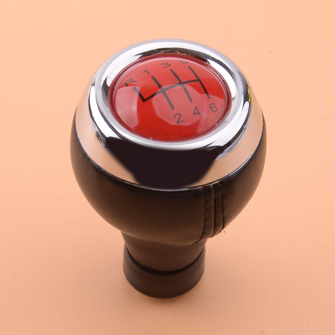 beler Red Top Manual 6 Speed Gear Shift Knob Shifter Head