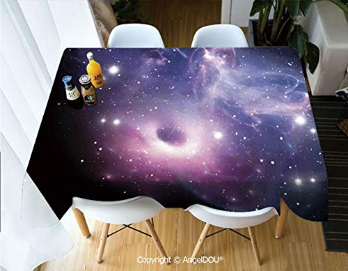 AngelDOU Fashion Durable Polyester Printed Tablecloth Black Hole in The Nebula Gas Cloud in Outer Space Universe Astro Solar System Print for Kitchen Dining Room Outdoor -