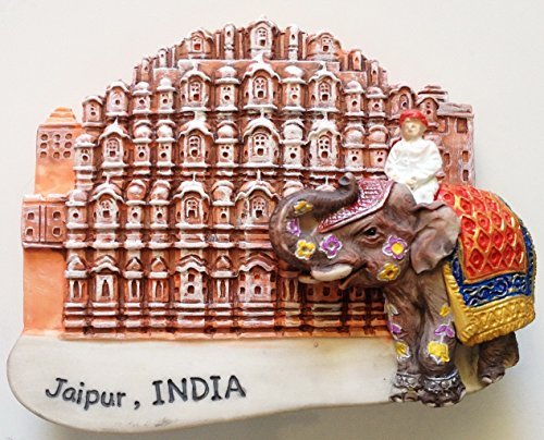 Hawa Mahal Jaipur Pink City INDIA Resin 3D fridge Refrigerator Thai Magnet Hand Made Craft. by Thai MCnets by Thai MCnets