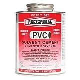 602 Pistol Pete 1 Pt Clear Pvc Cement