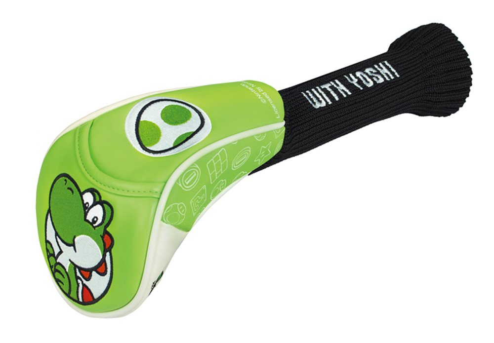 for Super Mario Head Cover FW (Yoshi) SMHF005 Golf Soft Candy Bag/Character Golf Bag Oshare Golf Bag Unusual Golf Bag, Clear, Medium