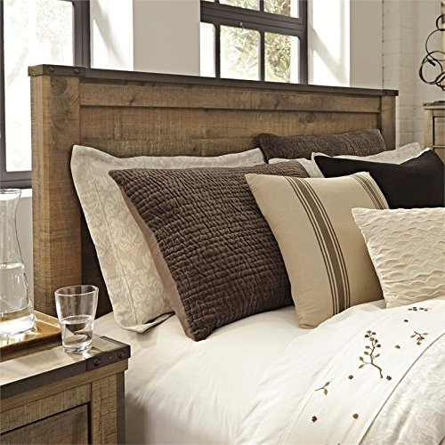 Queen Veneer - Ashley Furniture Signature Design - Trinell Queen Panel Headboard - Component Piece - Brown