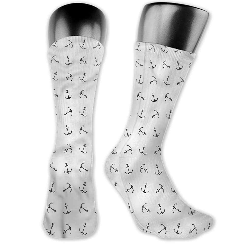 Sock for Male Party Gifts Anchor,Marine Ship Helm Design,socks for men size 13-15