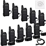 Retevis RT22 Two Way Radio 16 CH VOX CTCSS/DCS License-free Rechargeable Walkie Talkies(10 Pack) and Programming Cable