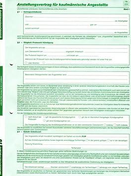 Formular Arbeitsvertrag Für Kaufmännische Angestellte