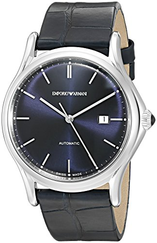 Emporio-Armani-Swiss-Made-Mens-ARS3011-Analog-Display-Swiss-Quartz-Blue-Watch