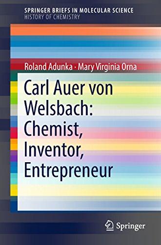 Carl Auer von Welsbach: Chemist, Inventor, Entrepreneur (SpringerBriefs in Molecular - Neodymium Bulbs