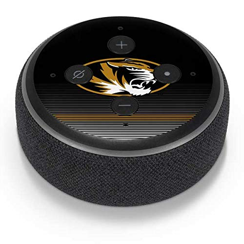Skinit University of Missouri Striped Amazon Echo Dot 3 Skin - Officially Licensed Collegiate Licensing Co Audio Decal - Ultra Thin, Lightweight Vinyl Decal Protection ()