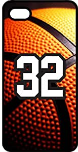 Basketball Sports Fan Player Number 32 Black Plastic Decorative iPhone 5c Case