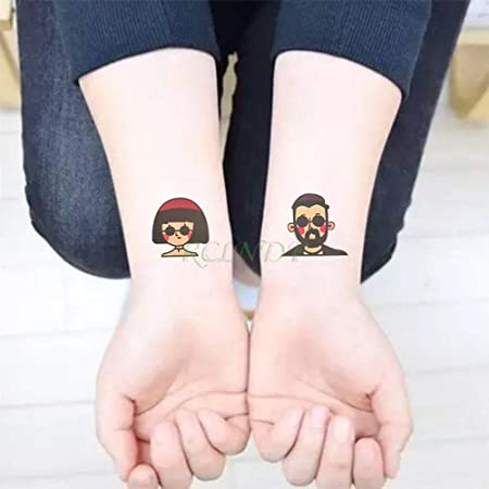 tzxdbh Etiqueta Adhesiva del Tatuaje Temporal 5 Piezas Impermeable ...