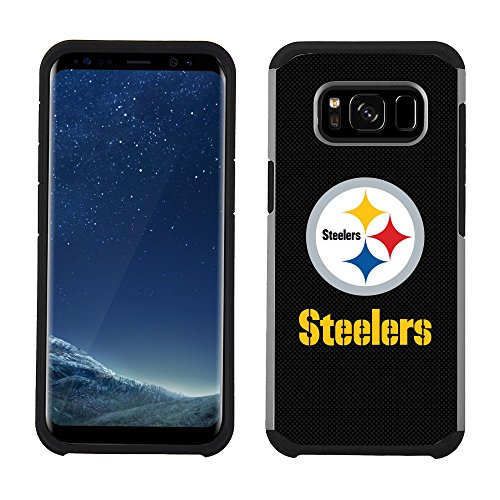 Prime Brands Group Cell Phone Case for Samsung Galaxy S8 - NFL Licensed Pittsburgh Steelers Textured Solid Color (Pittsburgh Steelers Phone Case)