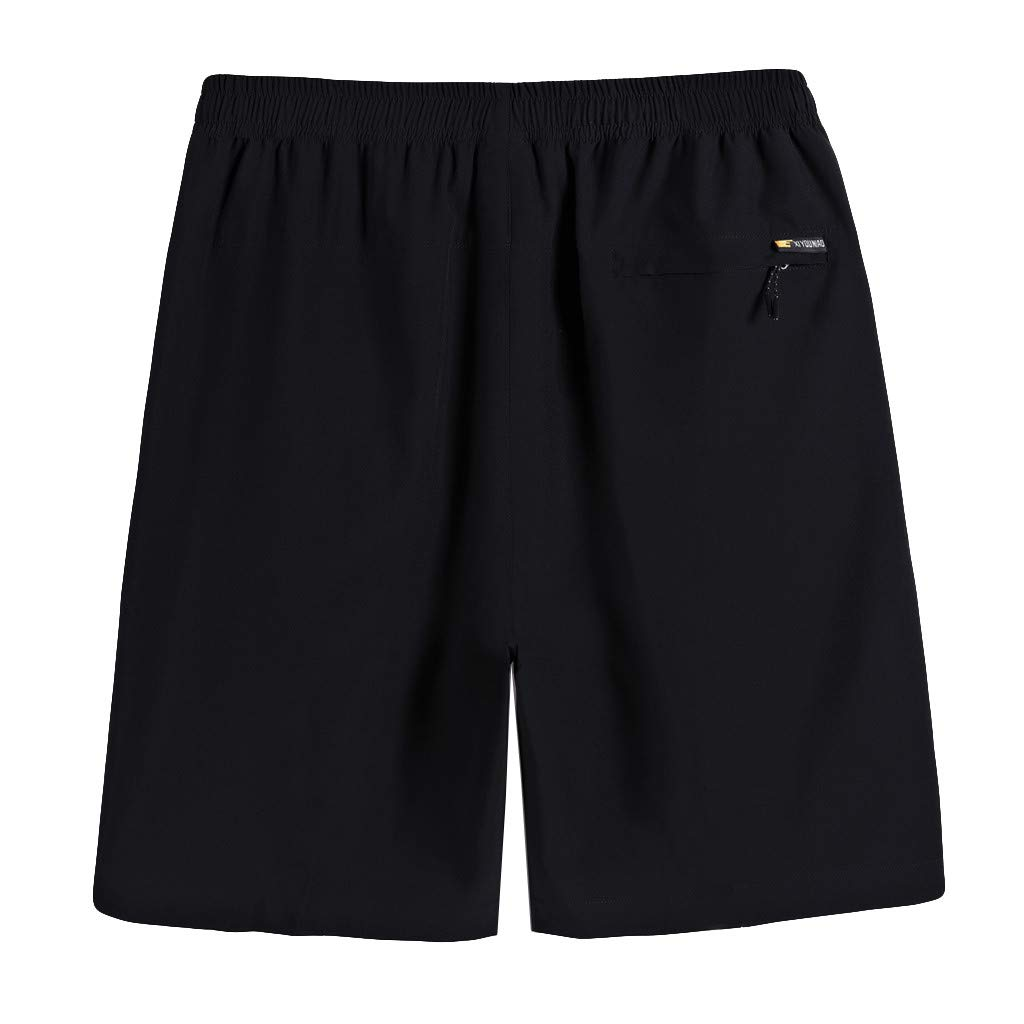 Mens Plus Size Thin Fast-drying Beach Casual Sports Short Pants