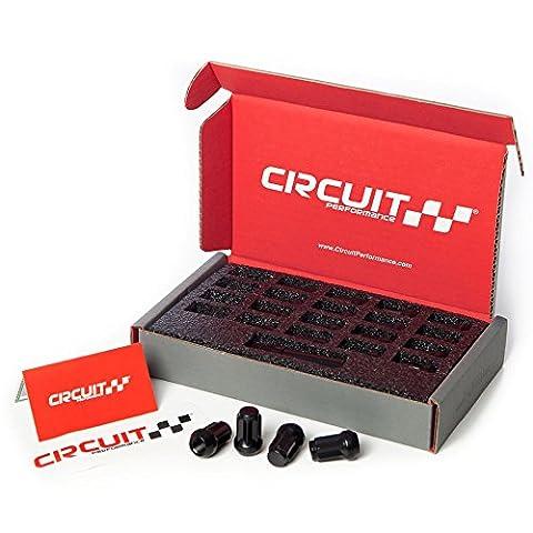 Circuit Performance Star Spline Drive Acorn Tuner Closed Ended Lug Nuts (Thin Small Diameter Tool) Set of 20, 4 Lug & 5 Lug (1/2
