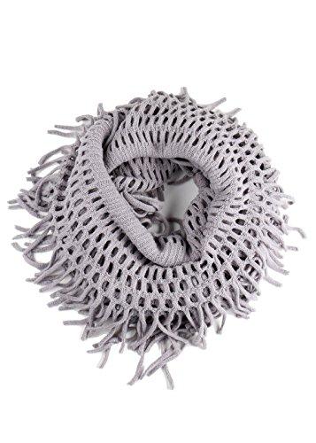 Essential Women's Winter Warm Knit Infinity Scarf Tassels Soft Shawl (KSF1415 - (Halloween Safety Rhymes)