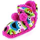 Sesame Street Girls Pink Boot Slippers