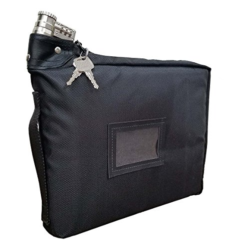Prescription Medication Bag Combination Keyed Lock Travel Case (Black) ()