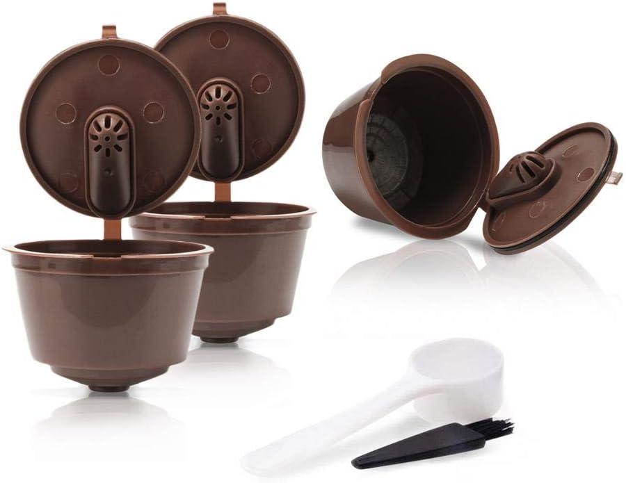 FOONEE Cápsulas de café Reutilizables, filtros de café rellenables para máquina Nescafe Dolce Gusto Que Incluye Mini Me/Piccolor/Genio Esperta/ Circolo: Amazon.es: Hogar