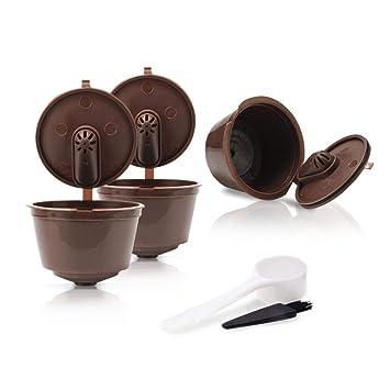 FOONEE Cápsula de Filtro de Café Reutilizable 5 Unidades de Cápsula de Café Recargable para Nescafe Dolce Gusto, Agregue una Nueva Función para Hacer un ...