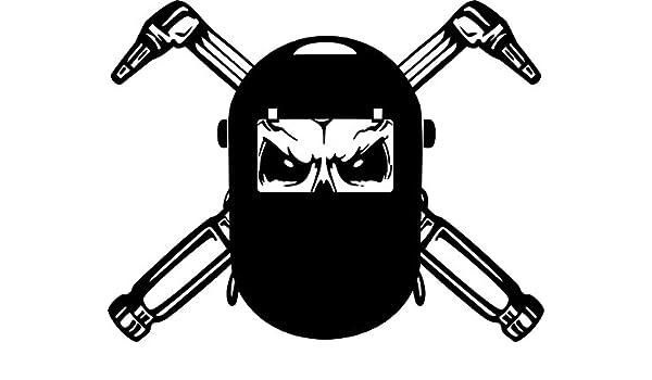 Casco de soldadura máscara pared pegatinas dibujos animados calavera soldador pegatinas decoración del hogar decoración del hogar pared, adhesivo, ...