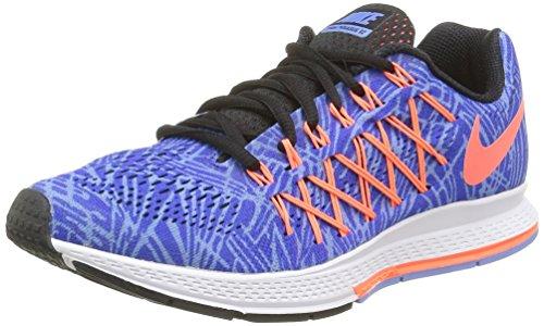 Nike Damen Wmns Air Zoom Pegasus 32 Print Laufschuhe Mehrfarbig (Racer Blue/Hypr Orange-Chlk Bl)