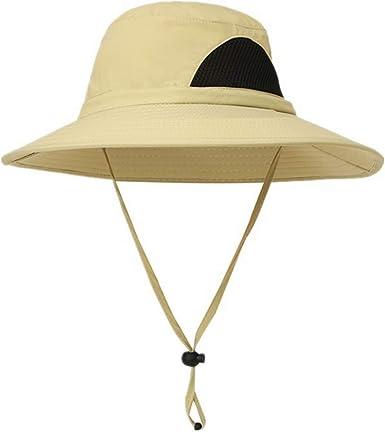 Sombrero de sol para hombre pesca dise/ño de cubo de verano protecci/ón UV Fyore senderismo sombrero de playa transpirable ala ancha