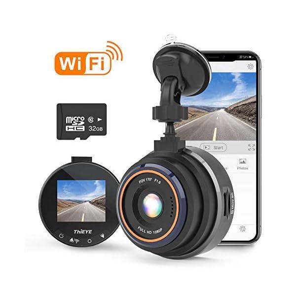 THiEYE Dash Cam WiFi, Dashcam for Car Driving Recorder 1080P FHD LCD Screen Driving...