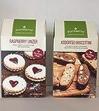 GLUTEN FREE Cookies Glutenetto Gourmet GF Raspberry Linzer & Glutenetto GF Assorted Biscottini Plus a Bonus Free GF 3-Item Candy Recipe from Z-Organics. A Great Gourmet Healthy Treat Bundle(2 Items+)