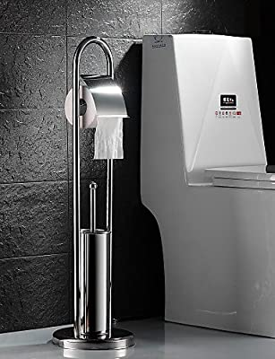 XY&XH Toilet Paper Holders Toilet Paper Holder / Toilet Brush Holder , Contemporary Stainless Steel Free Standing