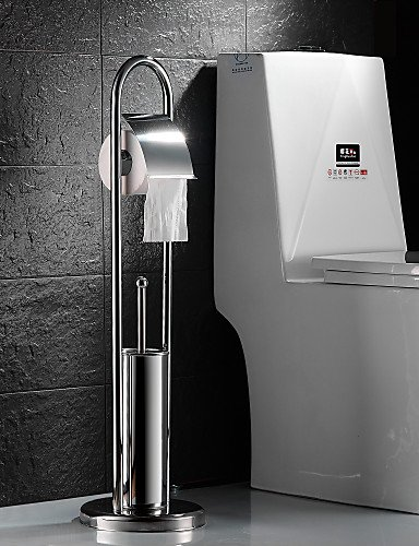 MEIREN Toilet paper holder Toilet Paper Holder / Toilet Brush Holder , Contemporary Stainless Steel Free Standing Toilet paper holder MEIREN