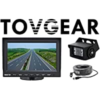 TovGear 7 Inch Rear View Backup Camera System For Truck Bus RV