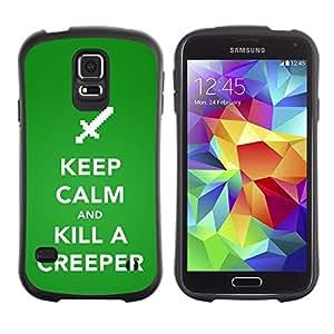 Paccase / Suave TPU GEL Caso Carcasa de Protección Funda para - Funny Keep Calm Creeper - Samsung Galaxy S5 SM-G900