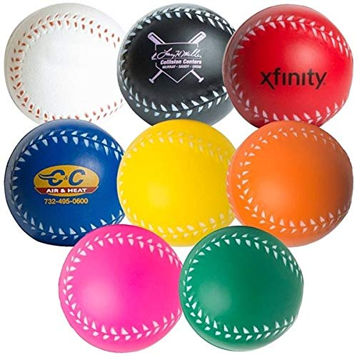 Custom Baseball Squeezies Stress Ball - 150 Quantity - $1.30 Each - Promotional Product/Bulk with Your Logo/Customized - -