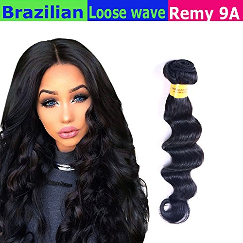 eCowboy 9A LOOSE Wave Brazilian 1 Bundle Pack Wavy Hair Weave Extensions...