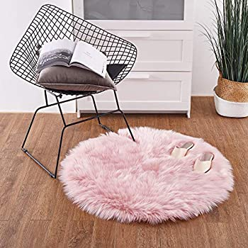 Amazon Com Yj Gwl Ultra Soft Round Fluffy Pink Area Rugs