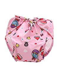 Fityle Swim Nappy Baby Cover Reusable Multifit Diaper Pants Nappies Swimmers - Pink(5-8.5KG), as described