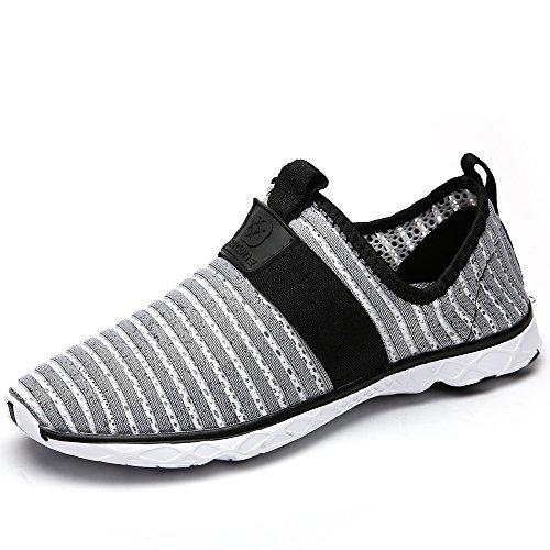 Water Sport Shoes Aleader Men's Comfortable Tennis Walking Shoes Gray 9.5 D(M) US