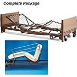 Full Electric Hospital Bed Package (Invacare Full Electric Home Hosckpital Bed Paage w/Mattress, Rail Set)