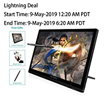 Pen Display Huion GT-191 Digital Graphics Drawing Tablet Monitor with 19.5 Inch HD Screen 8192 Pen Pressure for Windows and Mac PC