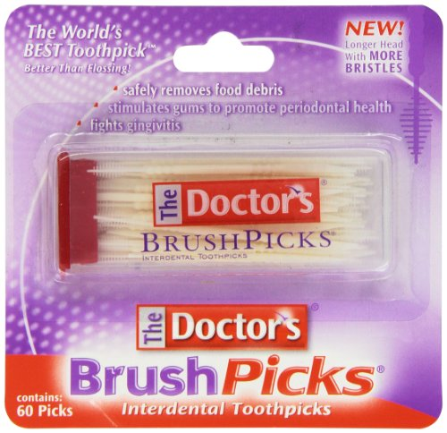 The Doctor's BrushPicks Interdental Toothpicks | Helps Fight Gingivitis?| 60 Count (Pack of 1)
