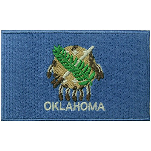 Oklahoma State Flag Embroidered Emblem Iron On Sew On OK Patch
