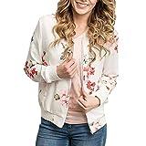 Pandaie Womens Jacket,Fashion Womens Casual Floral Print Top Coat Outwear Sweatshirt Jacket Overcoat
