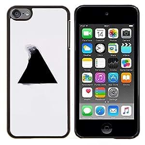 Qstar Arte & diseño plástico duro Fundas Cover Cubre Hard Case Cover para Apple iPod Touch 6 6th Touch6 (Geometría del triángulo B & W)