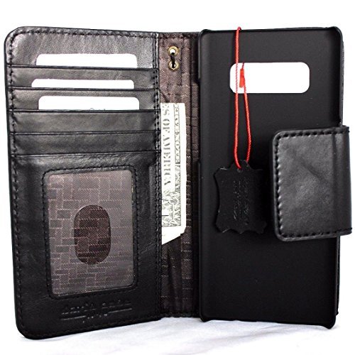 Genuine Leather Case for Samsung Galaxy Note 8 Book Wallet magnetic closure cover Handmade Retro Luxury cards slots Daviscase