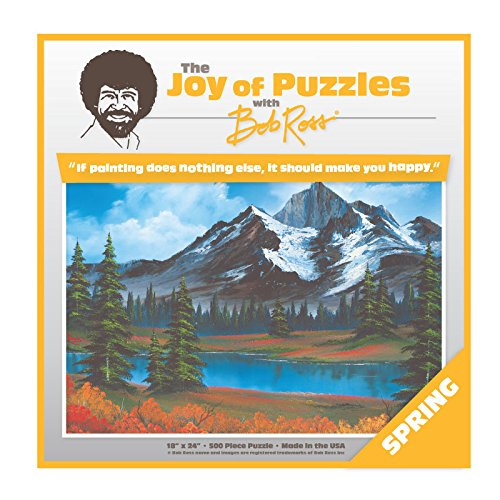 Wellspring Bob Ross The Joy Of Puzzles, Spring 500 Piece Jigsaw Puzzle 6815