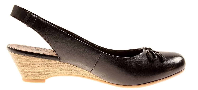 Jana Lederslings Lederschuhe Leder Schuhe Damen Slings 8-29502 Schwarz EU 38.5 Rabatt Authentisch w70bs