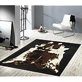 Design velluto tappeto Mucca Patchwork Effetto 101580, acrilico ...