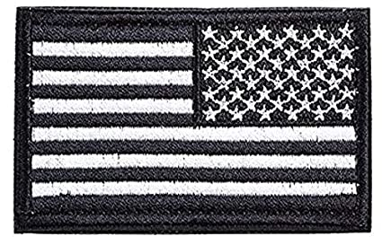 Antrix 4 Pcs Black Regular and Reversed American US USA Flag Embroidered Patch Tactical Military United States of America Uniform Emblem Applique Iron On Sew On Morale Patch for Backpacks Cap Bag Vest