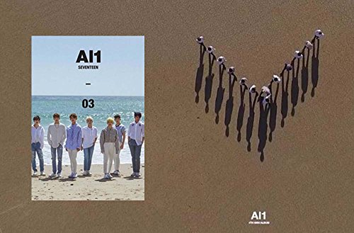 Price comparison product image SEVENTEEN [Al1 03] 4th Version 2 Album CD + Poster + Photobook + Photocard + Postcard + Sticker + Gift (4 Photocards Set)