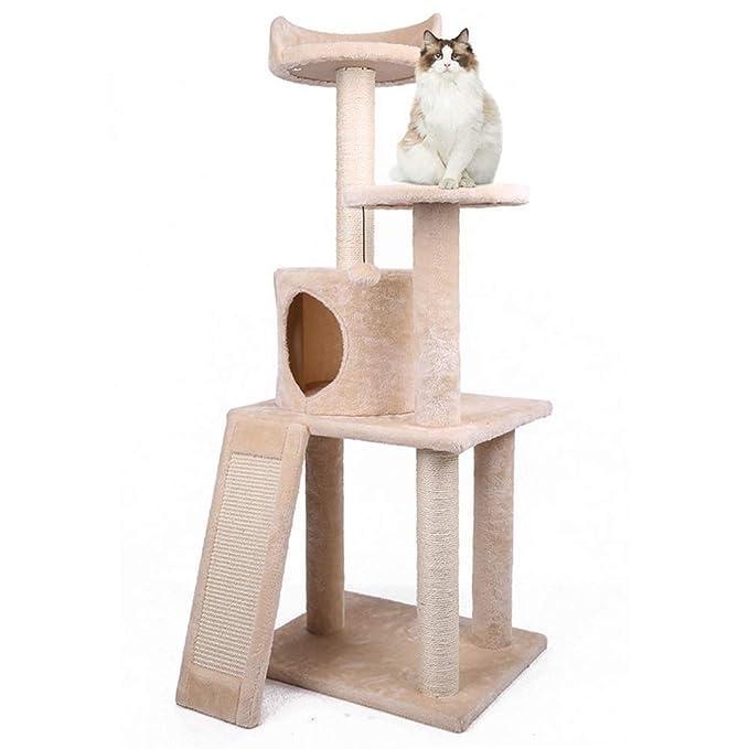 Árboles para gatos Poste de raspado Cubierto con sisal de árbol de Gato Multi-Palanca, condominio de Perchas de Felpa, Centro de Actividad, Muebles de Torre ...